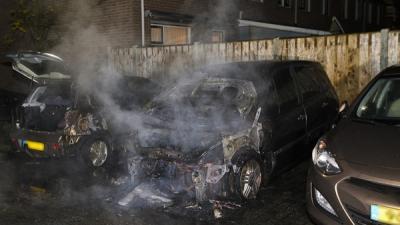 Foto van autobranden Den Bosch | Persburo Sander van Gils | www.persburausandervangils.nl
