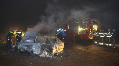 Vermoedelijk gestolen auto uitgebrand in buitengebied Vught