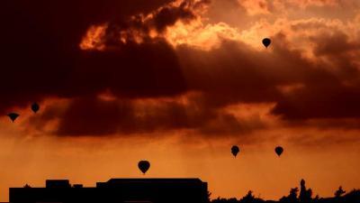 Foto van heteluchtballonnen in Joure | Frank Vink