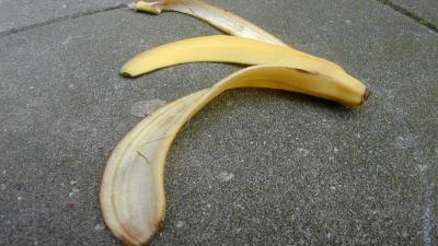 banaan-schil-glijden