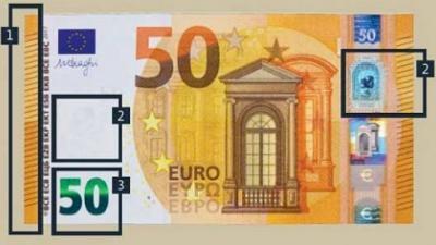 Nieuw 50-eurobankbiljet vanaf dinsdag 4 april in omloop