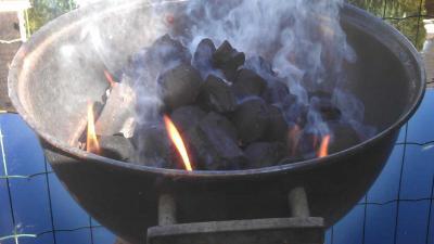 Dief met barbecue aan de haal