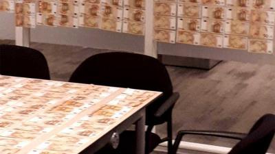 'Duur' tijdelijk behangetje politiebureau Gorinchem