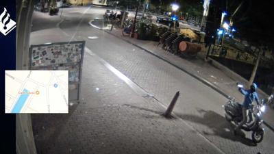Politie toont video 'klungelige' schutter Amsterdamse coffeeshop