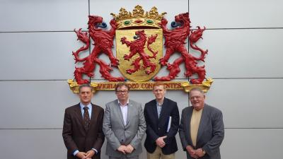 v.l.n.r.: Mark Fleischman, Jeffrey Dugas en dr. Paul Brooks