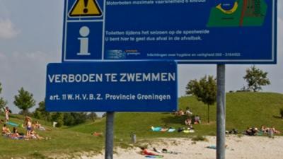Foto van waarschuwingsbord blauwalg | stichting VIP | www.parkstadveendam.nl