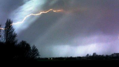 Bliksem tijdens onweer