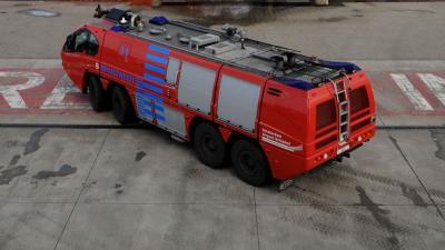 foto van brandweerwagen schiphol   fbf