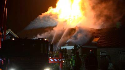 Grote brand zorgboerderij Zeijerveen