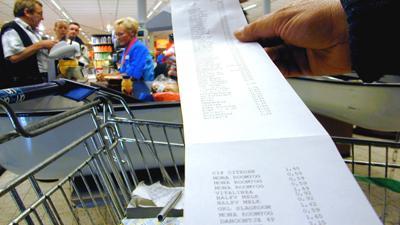 Foto van kassabon supermarkt | Archief EHF