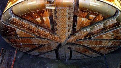 Foto van boorkop tunnel   Archief EHF