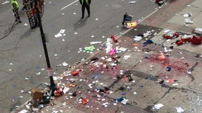 Foto van aanslag Boston | Divers