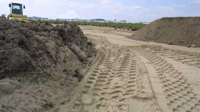 Foto van bouwplaats zand | Archief EHF