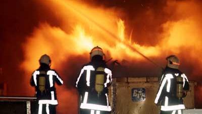 Foto van brandweer bij container | Archief EHF