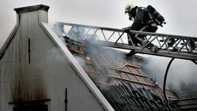 Foto van zolderbrand | Archief EHF