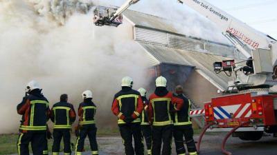 Foto van brand in discotheek Bermuda Assen | Dennie Gaasendam | www.denniegaasendam.nl