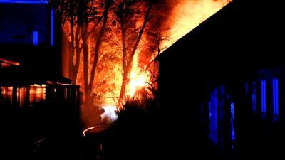 Brand in centrum van Zuidlaren