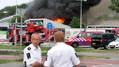 Foto van brand in school | Miranda van der Sloot