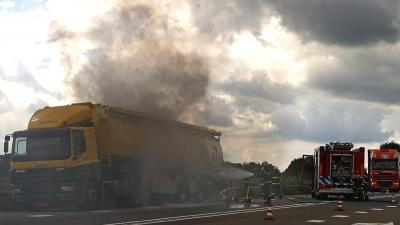 Foto van brand in tankauto | Stichting VIP | www.parkstadveendam.nl