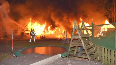 Grote brand in schuur in Zuidwolde