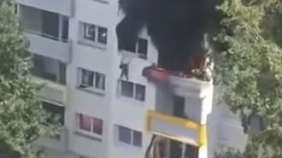 Omstanders redden kinderen van vuurzee