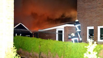 Schuren in vlammen op in Zuidwolde