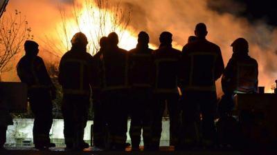 Grote brand recyclingbedrijf in Stadskanaal
