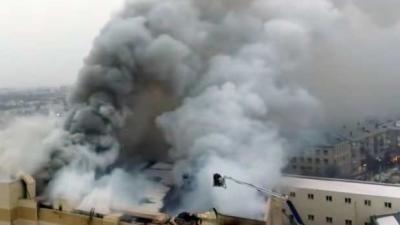 Zeker 53 doden na brand in Russisch shoppingcenter