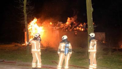 Anne de Vries-huisje op Dwingelderveld afgebrand