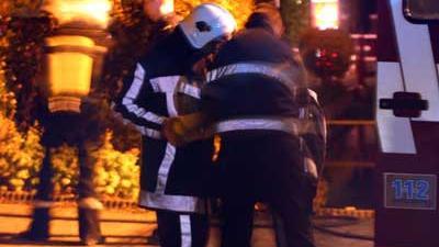 Foto van brandweermensen met perslucht | Archief EHF