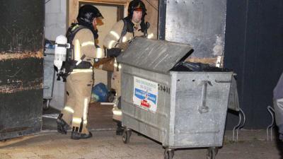 Brandweer gealarmeerd voor mogelijke containerbrand