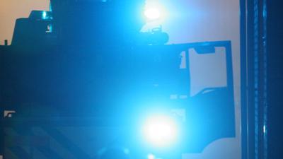 Foto van brandweer zwaailicht in donker | Archief EHF