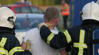 Foto van geweld tegen brandweer | Archief EHF