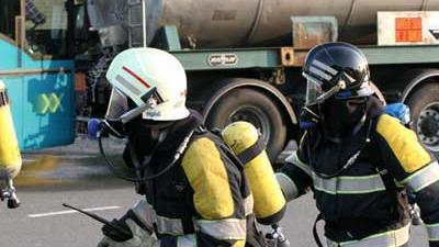 Foto van brandweermannen   Archief EHF