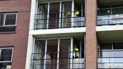 Brand in cv-installatie in flat