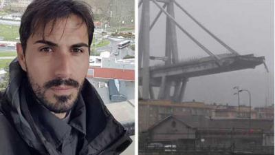 Davide stort met brug mee de afgrond in maar overleeft de ramp