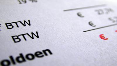 Foto van factuur met BTW | Archief EHF