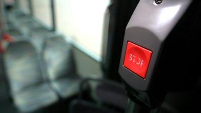 Foto van stopknop in bus | Archief EHF