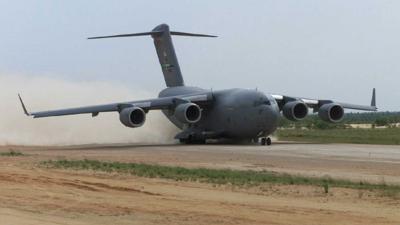 Nog een C-17 met militairen en civiel hulpteam naar Sint-Maarten