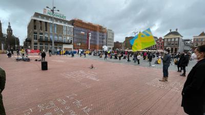 Demonstratie grote markt
