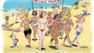 Cartoon topless