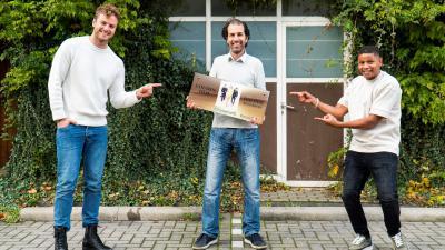 Op de foto van links naar rechts: Jim Bakkum, Jamel Aattache en Sergio IJssel