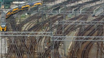 Foto van treinsporen station | Archief EHF