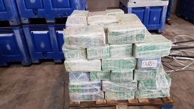 Zes aanhoudingen na onderschepping 4500 kilo cocaïne