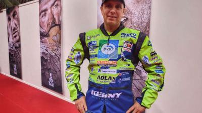 Edwin Straver als titelverdediger aan de start van Dakar 2020