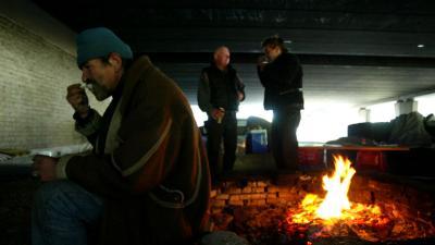 Foto van dakloos zwerver | fbf