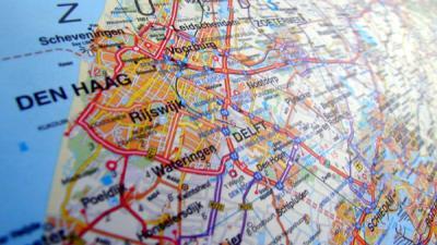 Foto van Den Haag op kaart | Archief EHF
