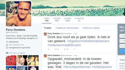 GTST-acteur Ferry Doedens met drank op gepakt