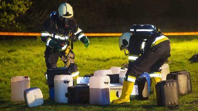 Vaten met drugsafval gedumpt in Schijndel