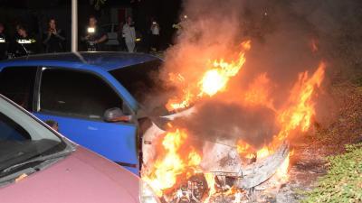Weer autobrand in Hoogeveen